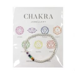 Chakra Bracelet Hematine with White Silver Plating