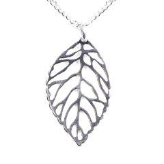 Leaf Necklace Sterling Silver