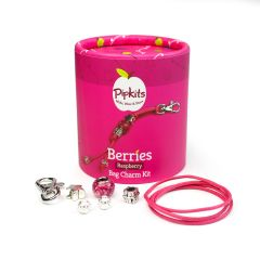 Berries Bag Charm Pipkit  Raspberry