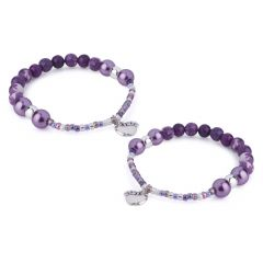 Berries Beaded Bracelet PipKit Blackberry (Makes 2)